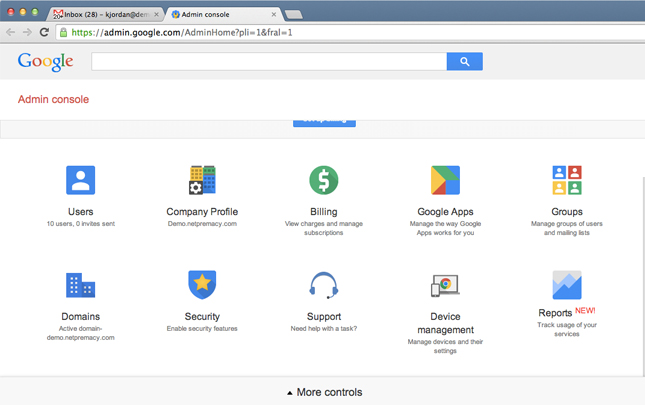 Google Apps Admin Panel