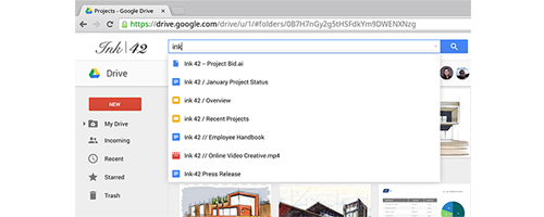 Google Drive for Work - Search