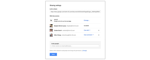 Google Drive for Work - Sharing