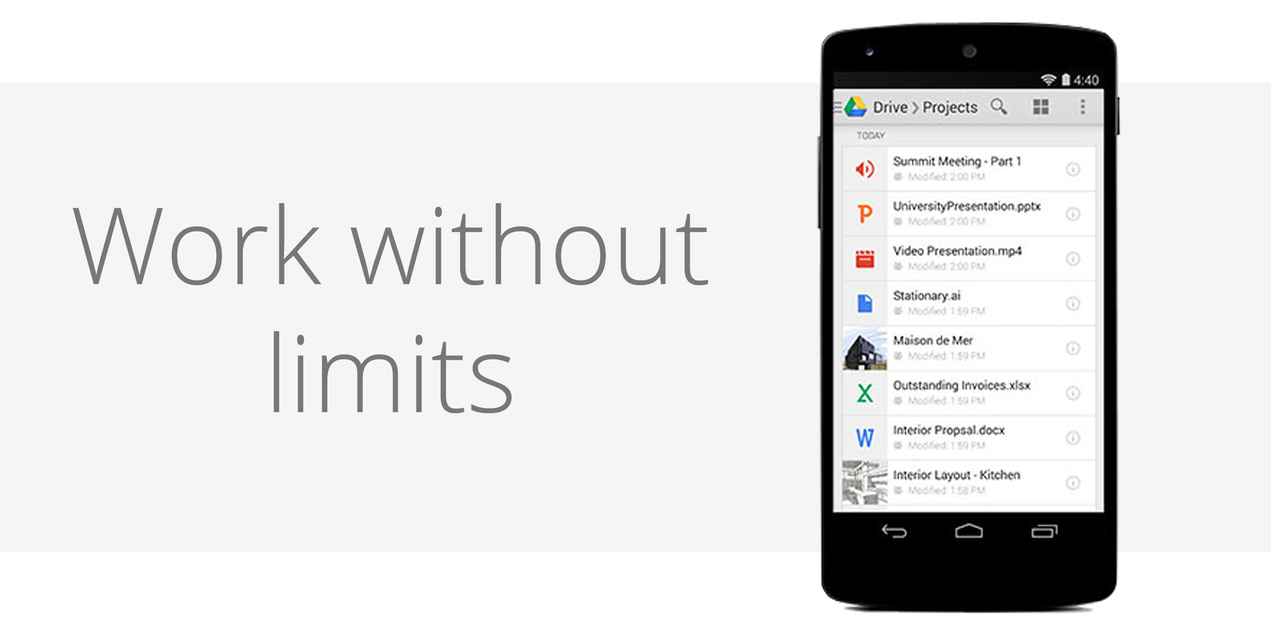 Google Drive for Work: Work without limits