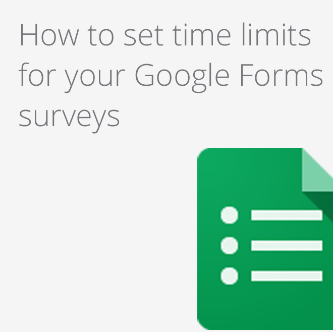 Google Apps Tips - Google Forms