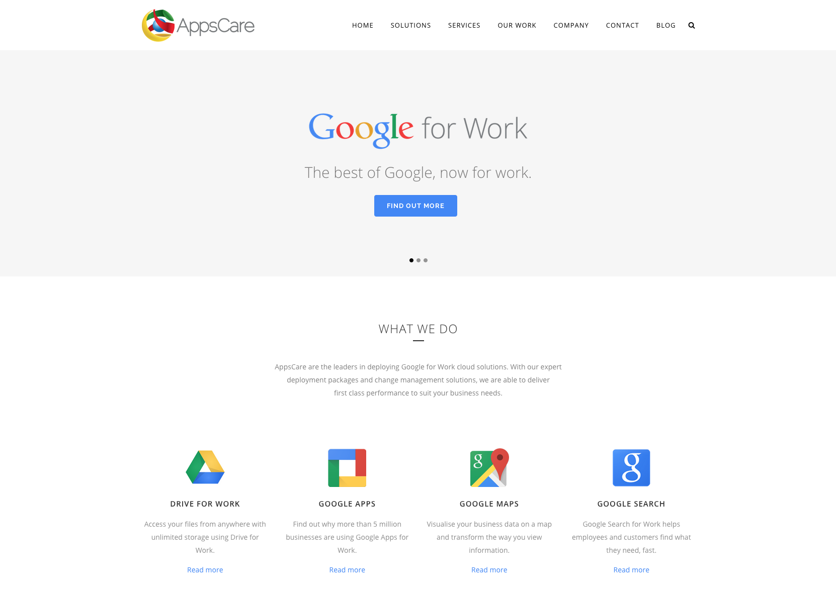 AppsCare website
