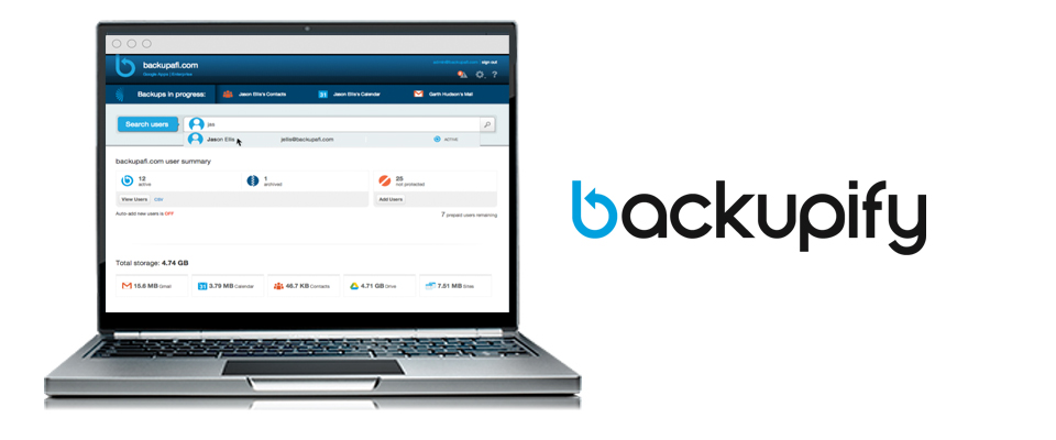 Backupify for Google Apps