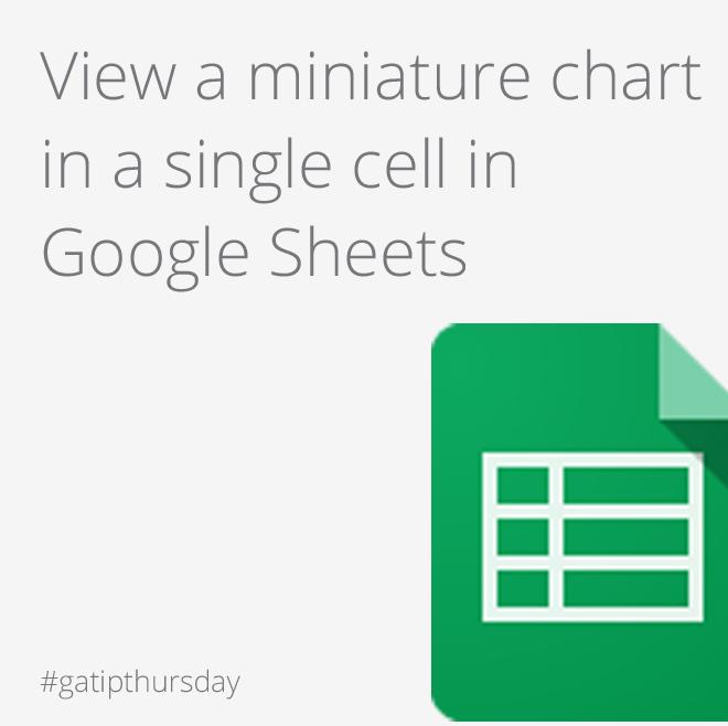 Google Apps Tips - Google Sheets Sparkline
