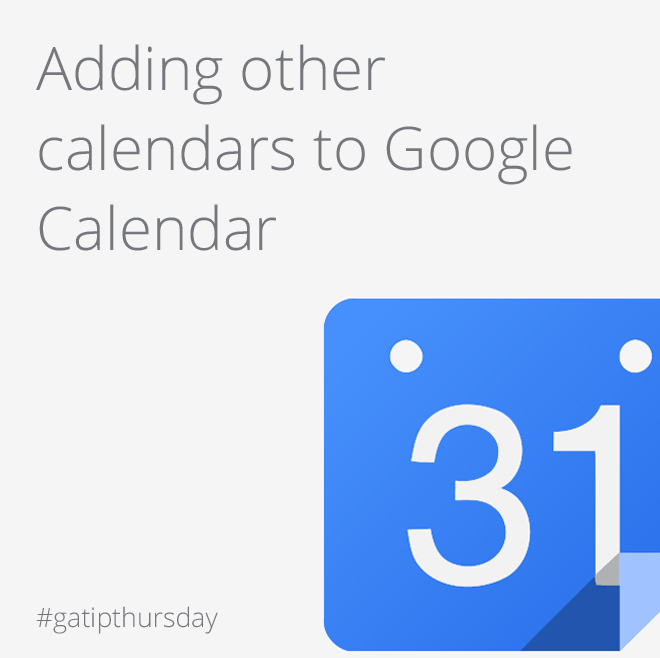 Adding calendars to Google Calendar