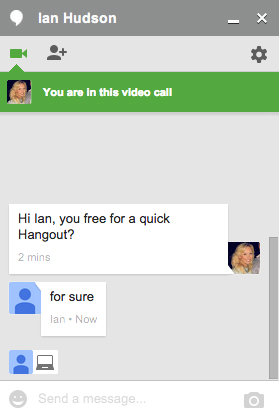 Access Hangouts from within Gmail and Google+, and see who your online contacts are before you send them an instant message or invite someone for a video ...