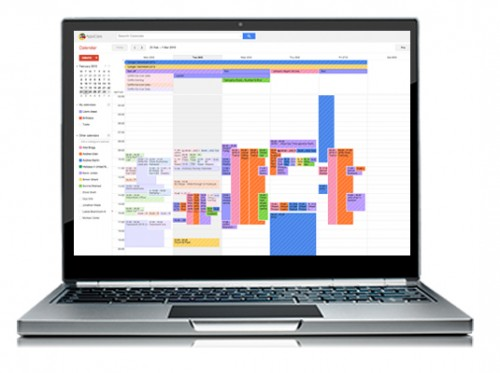 Google Calendar on Laptop