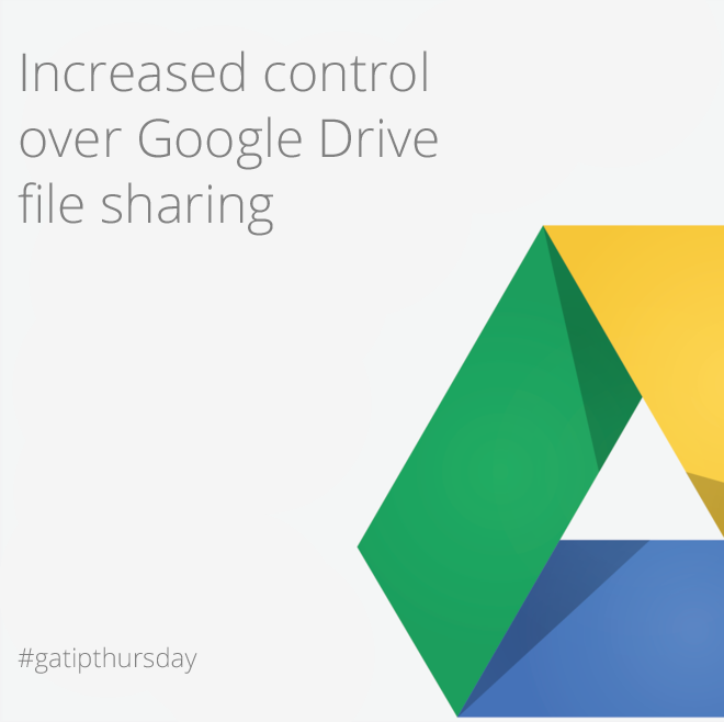 last week jan Increased control over Google Drive file sharing