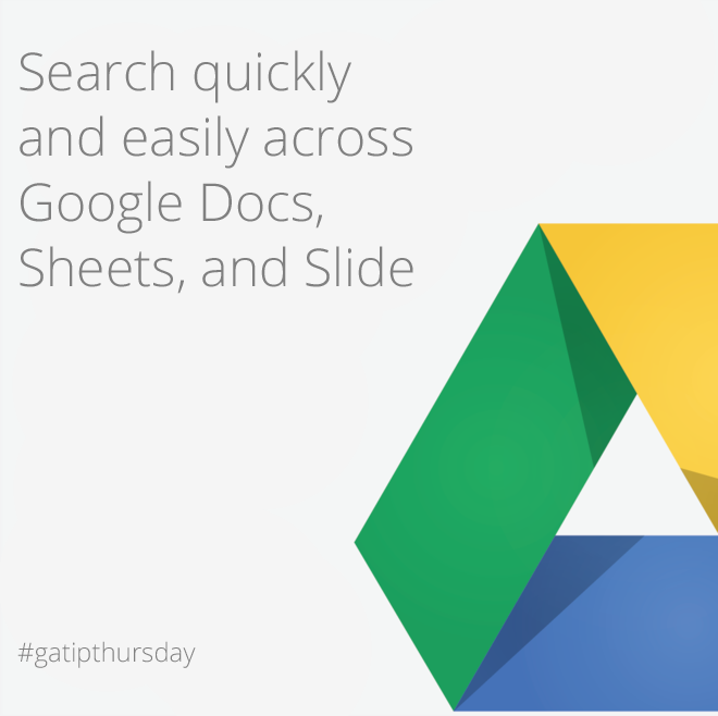 tip of the week  Search quickly and easily across Google Docs, Sheets, and Slide